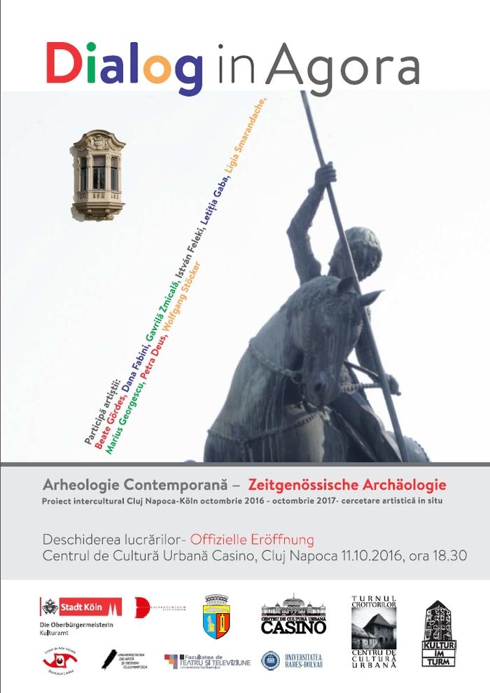 Dialog in Agora Plakat